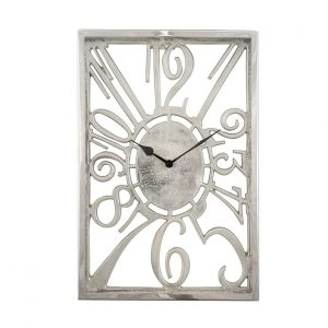 Shiny Nickel Oblong Wall Clock