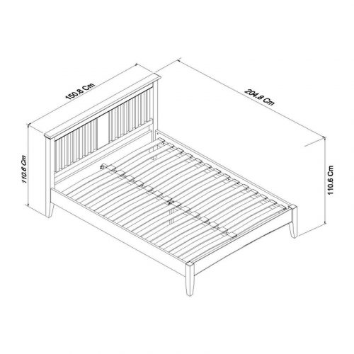 Hampstead Two Tone Bedstead Double dimensions