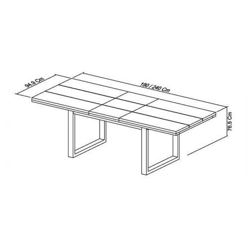 Tivoli Dark Oak 6-8 Dining Table dimensions