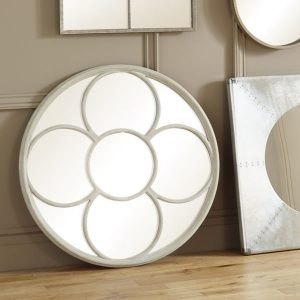 House Grey Round Wall Mirror
