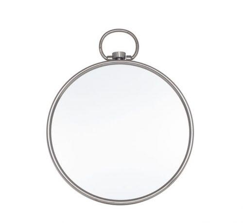 Shiny Nickel Round Wall Mirror