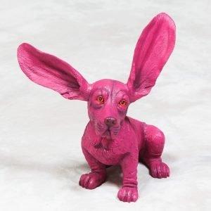Pink Surprised Basset Ornament