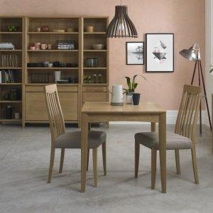 Bergen Oak 2-4 Extension Dining Table