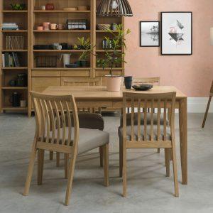 Bergen Oak 4-6 Extension Dining Table