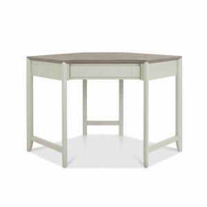 Bergen Corner Desk Grey Washed Oak And Soft Grey