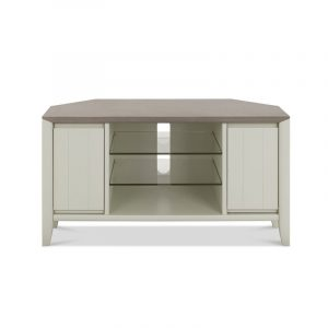 Bergen Corner Entertainment Unit Grey Washed Oak And Soft Grey