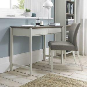 Bergen Desk Grey Washed Oak And Soft Grey