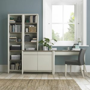 Bergen Narrow Top Unit Grey Washed Oak And Soft Grey