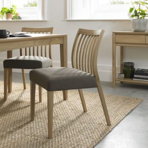 Bergen Oak Low Slat Back Chair (Pair)