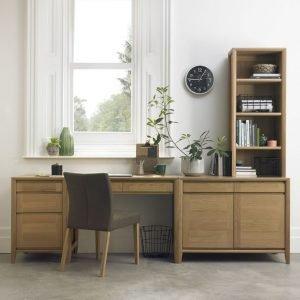 Bergen Oak Filing Cabinet
