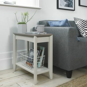 Bergen Lamp Table Grey Washed Oak And Soft Grey