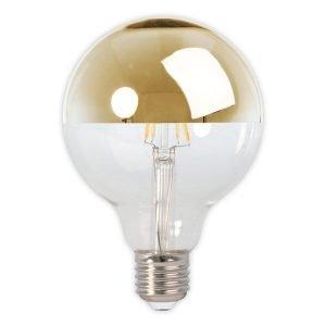 Calex E27 LED Full Glass Filament Gold Top Globe
