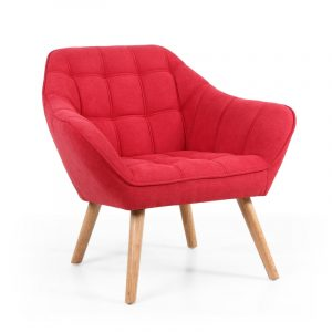 Coral Scarlet Red Studio Chair