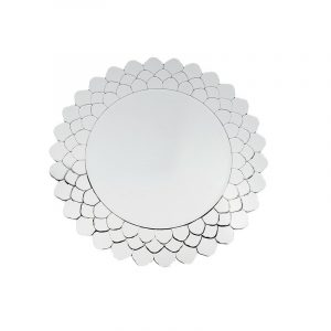 Layered Glass Round Wall Mirror