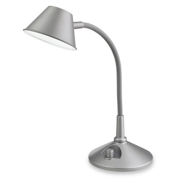 CURLIE LED DESK LAMP (Silver) 5 WATT
