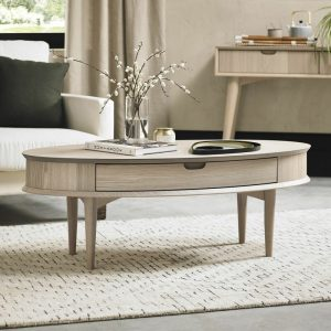 Dansk Coffee Table With Drawer