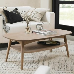Dansk Coffee Table With Shelf