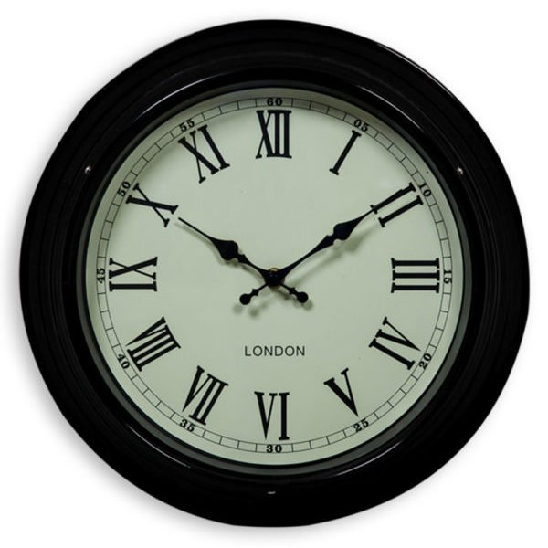 SMALL BLACK AND WHITE WALL CLOCK
