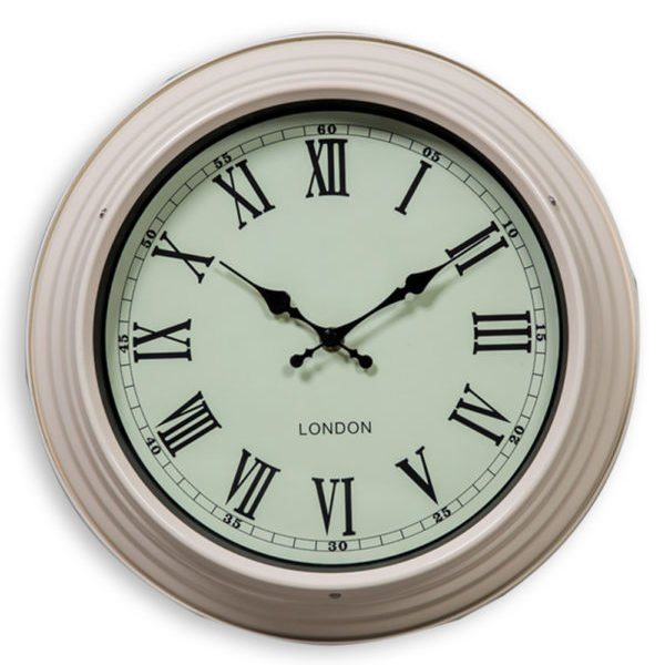 SMALL CREAM AND WHITE WALL CLOCK
