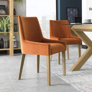 Ella Light Oak Scoop Back Chair (Pair)