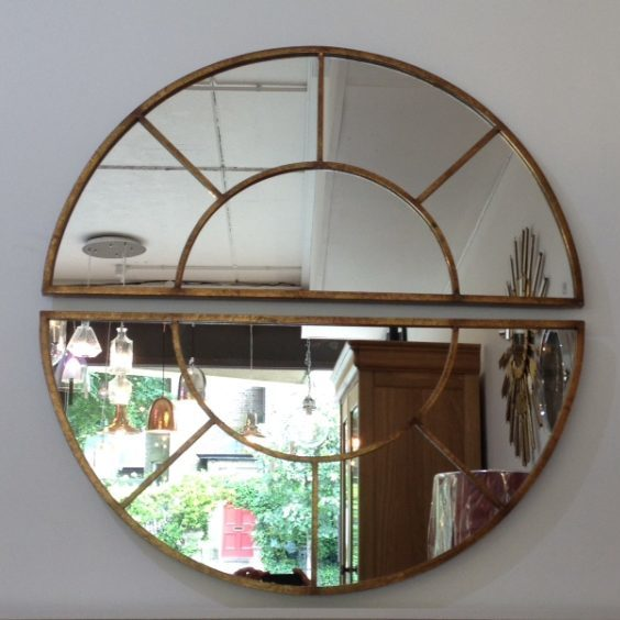 Large Round Mirror With 2 Sections Avenue Interiors