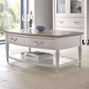 Montreux Grey Washed Oak And Soft Grey Coffee Table