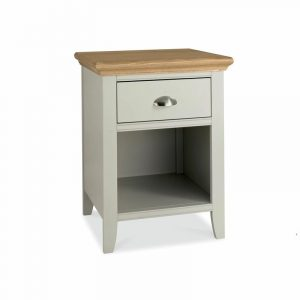 Hampstead Soft Grey And Oak One Drawer Nightstand
