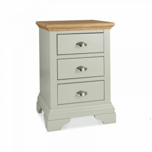 Hampstead Soft Grey And Oak Three Drawer Nightstand
