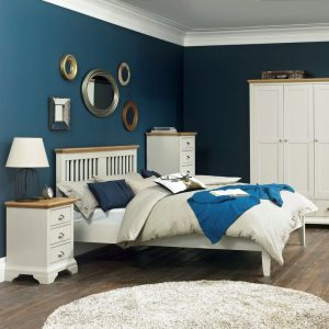Hampstead Soft Grey And Oak King Slatted Bedstead