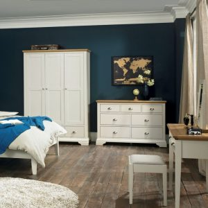 Hampstead Soft Grey And Oak 2 Plus 2 Drawer Chest