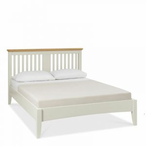Hampstead Soft Grey And Oak Double Slatted Bedstead
