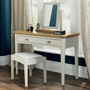 Hampstead Soft Grey And Oak Vanity Mirror