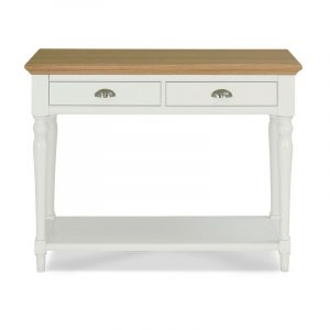 Hampstead Two Tone Console Table – Turned Legs
