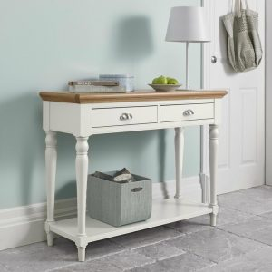 Hampstead Two Tone Console Table - Turned Legs