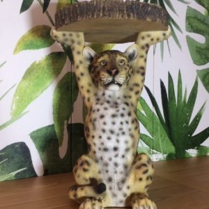 Leopard Side Table