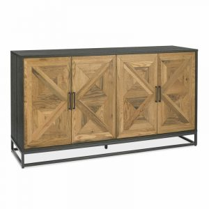 Indus Rustic Oak and Peppercorn Wide Sideboard
