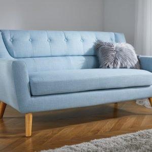 Lambeth Three Seat Sofa in Duck Egg Blue or Grey