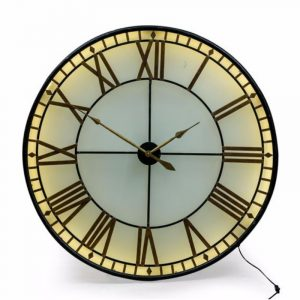 Large Back Lit 'Westminster' Wall Clock