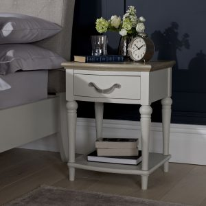 Montreux Grey Oak And Soft Grey 1 Drawer Nightstand