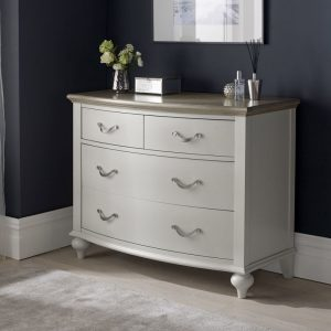 Montreux Grey Oak And Grey 4 Drawer Wide Chest