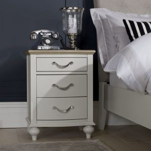 Montreux Grey Oak And Soft Grey 3 Drawer Nightstand