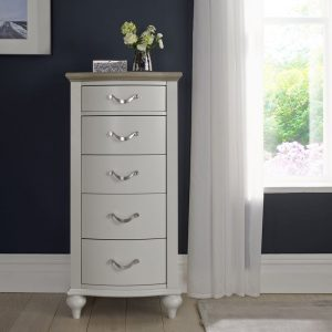 Montreux Grey Oak And Soft Grey 5 Drawer Tall Chest