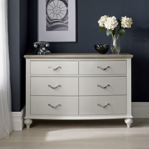 Montreux Grey Oak And Grey 6 Drawer Wide Chest