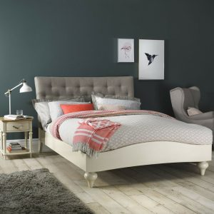 Montreux Upholstered Soft Grey King Bedstead