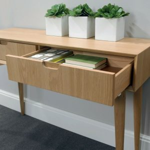 Oslo Oak Console Table With Drawers