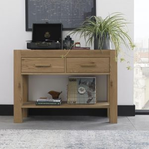 Turin Oak Console Table