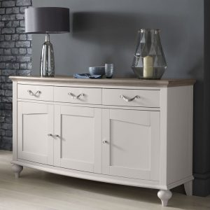 Montreux Grey Washed Oak And Soft Grey Wide Sideboard