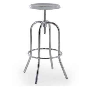 Adjustable Chrome Bar Stool
