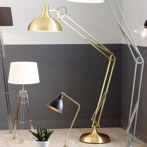 Brushed Brass Task Floor Lamp