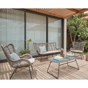 Brisbane 4 Piece Lounge Set Grey